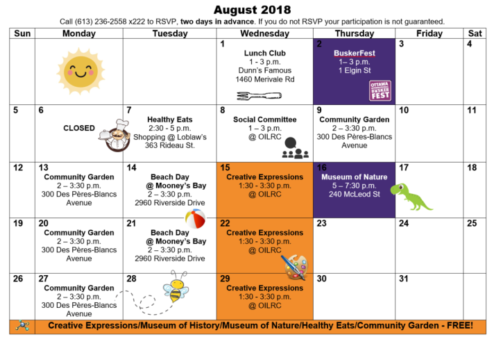 full calendar