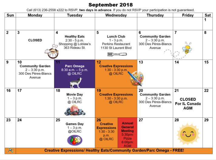 Sept 2018 cal